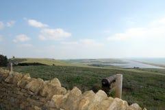 View over Dorset coast, Abbotsbury gardens Royalty Free Stock Images