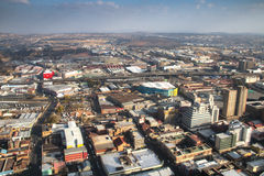 View over downtown Johannesburg in South Africa Royalty Free Stock Images