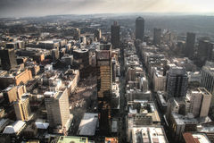 View over downtown Johannesburg in South Africa Royalty Free Stock Image