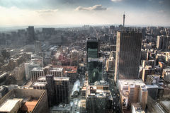 View over downtown Johannesburg in South Africa. View from the Carlton towers over downtown Johannesburg in South Africa royalty free stock photos