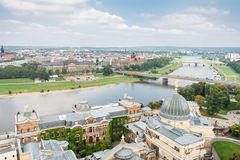 View over Dresden and River Elbe Stock Photography
