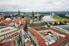 View over Dresden stock photography