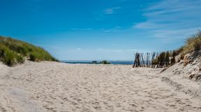 View over the dunes of Ameland, Holland Stock Photos