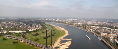 The view over Dusseldorf Royalty Free Stock Photography