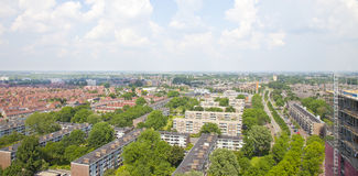 View over Dutch city of Beverwijk. The Netherlands Stock Photography
