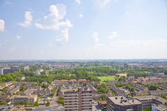 View over Dutch city of Beverwijk Royalty Free Stock Photography
