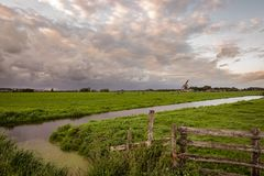 View over the dutch polder landscape in the Green Heart of Holland stock photos