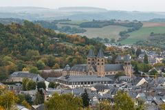 View over Echternach - Luxembourg royalty free stock images