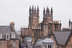 View over Edinburgh in cloudy weather, Scotland Stock Photography
