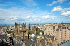 View over Edinburgh in sunny weather, Scotland Stock Images