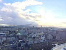 View over Edinburgh Royalty Free Stock Photos