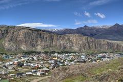 View over El Chalten, Argentina. View over the town of El Chalten, Argentina Stock Photography