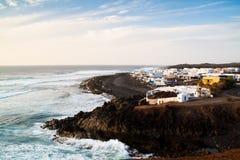 View over El Golfo, Lanzarote. A view over the city of El Golfo in Lanzarote, Spain Royalty Free Stock Photos