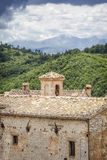 View over Elcito in Italy Marche Stock Image