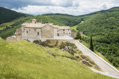 View over Elcito in Italy Marche Royalty Free Stock Images