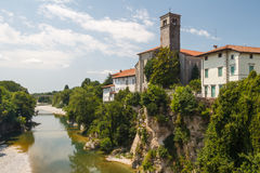 A view over facades of Cividale del Friuli medieval town Stock Photography