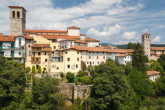 A view over facades of Cividale del Friuli medieval town Royalty Free Stock Photo