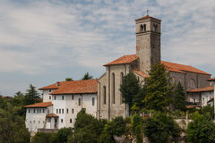 A view over facades of Cividale del Friuli medieval town Royalty Free Stock Image