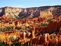 View over the famous Bryce Canyon in Utah in the USA royalty free stock image