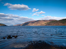 View over the famous Loch Ness Stock Images