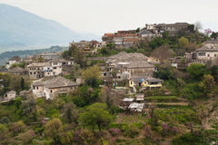 View over a farm in Gjirokaster, Albania Royalty Free Stock Photos