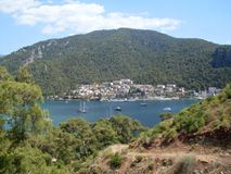 View over Fethiye town Royalty Free Stock Image