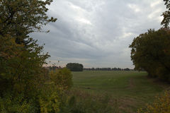 View over field near Lindau, Saxony-Anhalt, Germany.  Stock Images