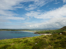 View over the fields and the beach of Maghery, Donegal Royalty Free Stock Photography