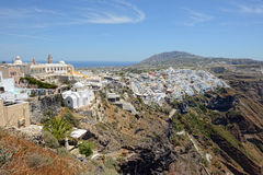View over Fira Santorini, Greece with its typical white houses Royalty Free Stock Photo