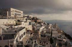 View over Fira town royalty free stock images
