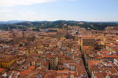 View over Firenze with towers Royalty Free Stock Photography