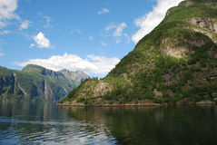 View over the fjord Geiranger in Norway Stock Images