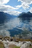 View over the fjord sunnylvsfjorden in Norway. More og Romsdal Royalty Free Stock Photo