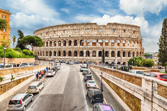 View over the Flavian Amphitheatre, aka Colosseum in Rome, Italy Stock Photography