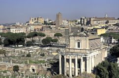 View over the Forum Romanum Royalty Free Stock Images