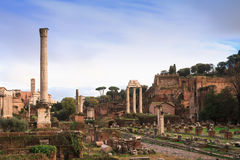 View over the Forum Romanum Royalty Free Stock Photography