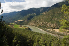 View over the Fraser River and upper Fraser Canyon Stock Images