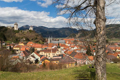 View over Friesach Oldtown Stock Photo