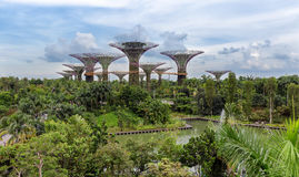 View over the Gardens by the Bay stock photography
