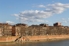 View over Garonne River in Toulouse Royalty Free Stock Photography