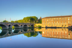 View over Garonne river in Toulouse. France Royalty Free Stock Photos