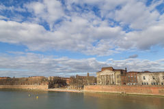View over Garonne River in Toulouse Royalty Free Stock Images