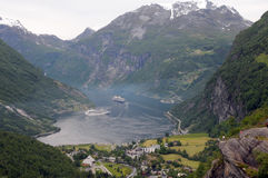 View over Geirangerfjord Stock Images