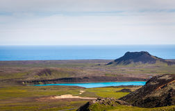 View over geothermal area Stock Photography