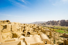 View over ghost town of kharanaq by Yazd Stock Photo