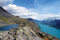 View over Gjende Royalty Free Stock Photography