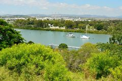 View over Gladstone in Queensland, Australia royalty free stock image