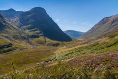View over Glencoe Royalty Free Stock Photo