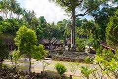 View over Goa Gajah Elephant Cave Temple near Ubud, Bali, Indonesia Stock Photos