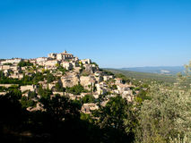 View over Gordes in France Royalty Free Stock Images